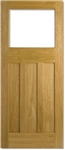 DX Glazed Oak Interior Door