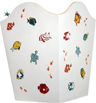 Hand painted Tropical Fish Bin