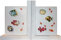 Hand painted Tropical Fish Book ends