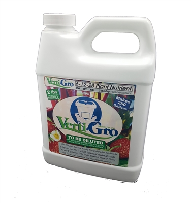 F61228 1 Gallon JUG of 6-12-28 (2 lbs) of Verti-Gro Hydroponic Plant Nutrient 6-12-28 with trace minerals.