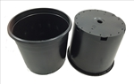 Ground Black Pot 5 Gallon  - Drilled
