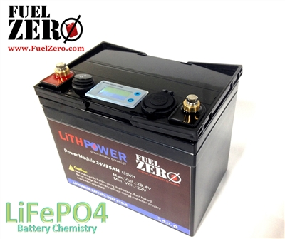 FuelZero 24v 25AH Deep Cycle LIFEPO4 Battery