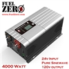 High Power, High Output Pure Sine Wave Inverter, Low Frequency, AC Charger, 24v Input, 110v Output, 4000 watt Continuous, 12000 watt Peak