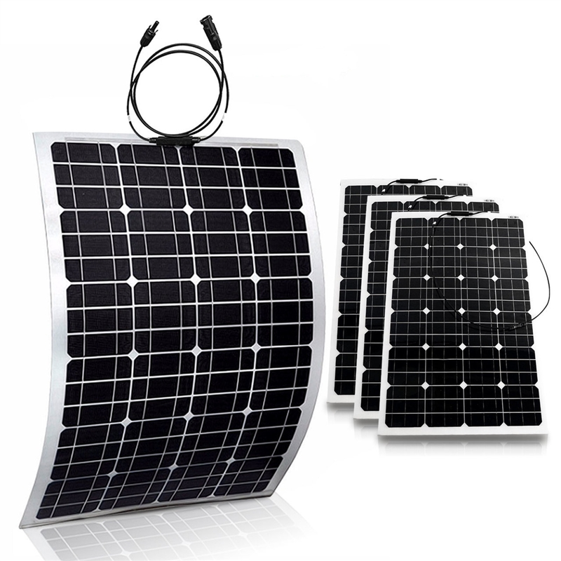 4 pcs of 100W Semi-Flexible Solar Panels