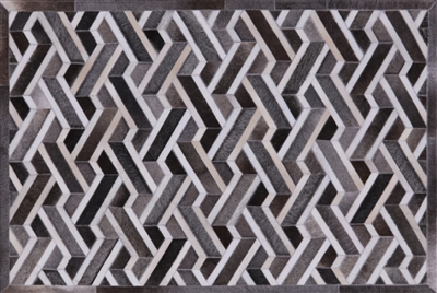 Cowhide Hand Stitched Patchwork Area Rug