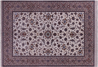 Isfahan Hand Knotted Wool & Silk Rug