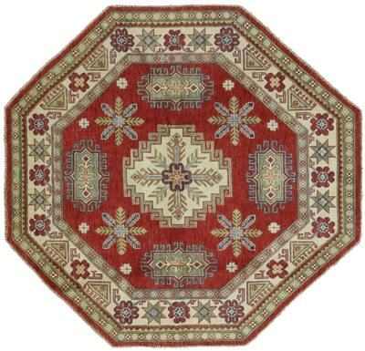 Octagon Mojave Collection Super Kazak Hand Knotted Wool Rug