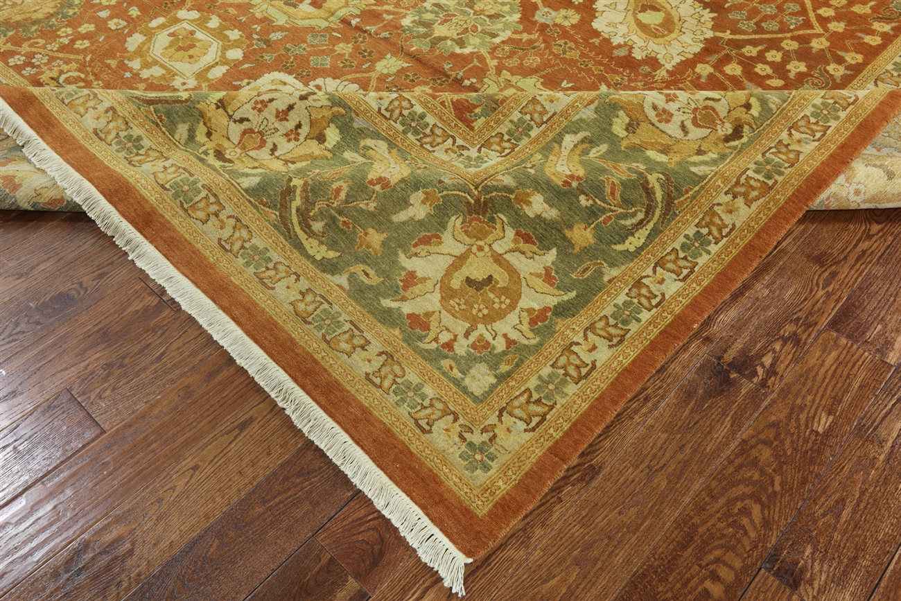10 X14 Oushak Collection Chobi Style Hand Knotted Wool