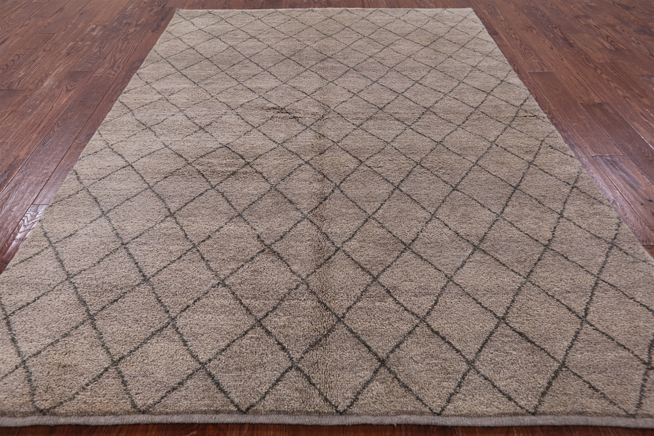 6 x 9 diamond design handmade traditional moroccan wool rug h7646 dailygadgetfo Gallery