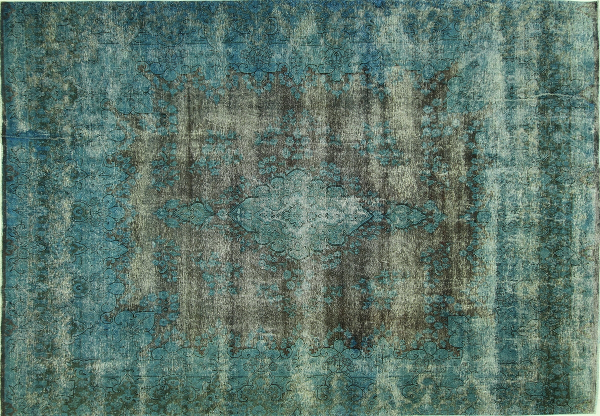 Awesome Overdyed Blue Rug