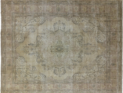 Overdyed Collection Oriental Gold Hand Knotted Wool Rug
