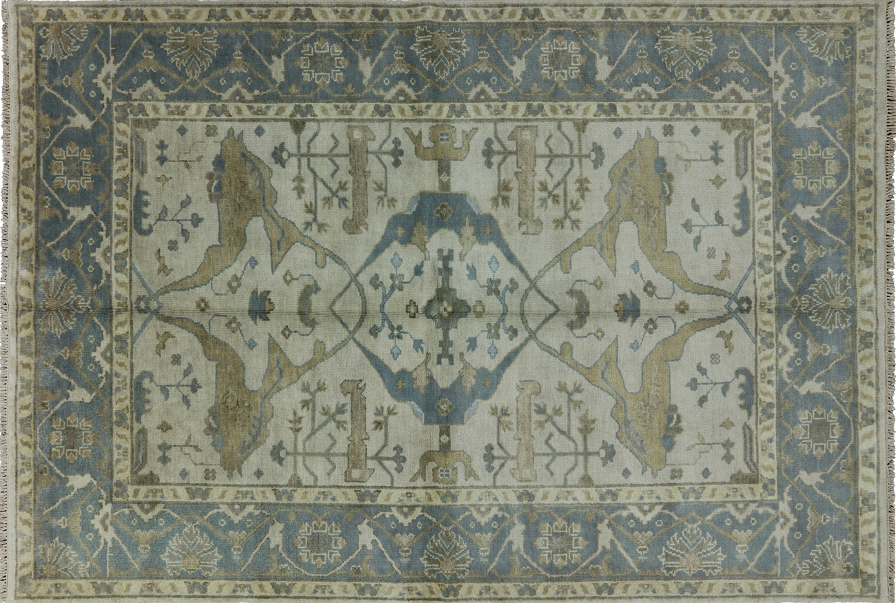 oriental rug green turkish oushak hand knotted