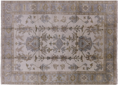 Oriental Oushak Hand Knotted Wool Area Rug