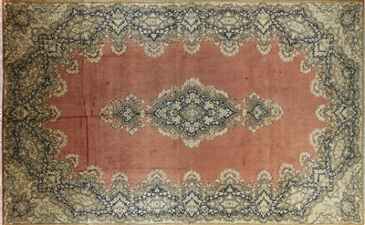 Overdyed Hand Knotted Persian Wool Rug