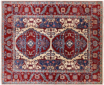 Fine Serapi Hand Knotted Wool Oriental Area Rug