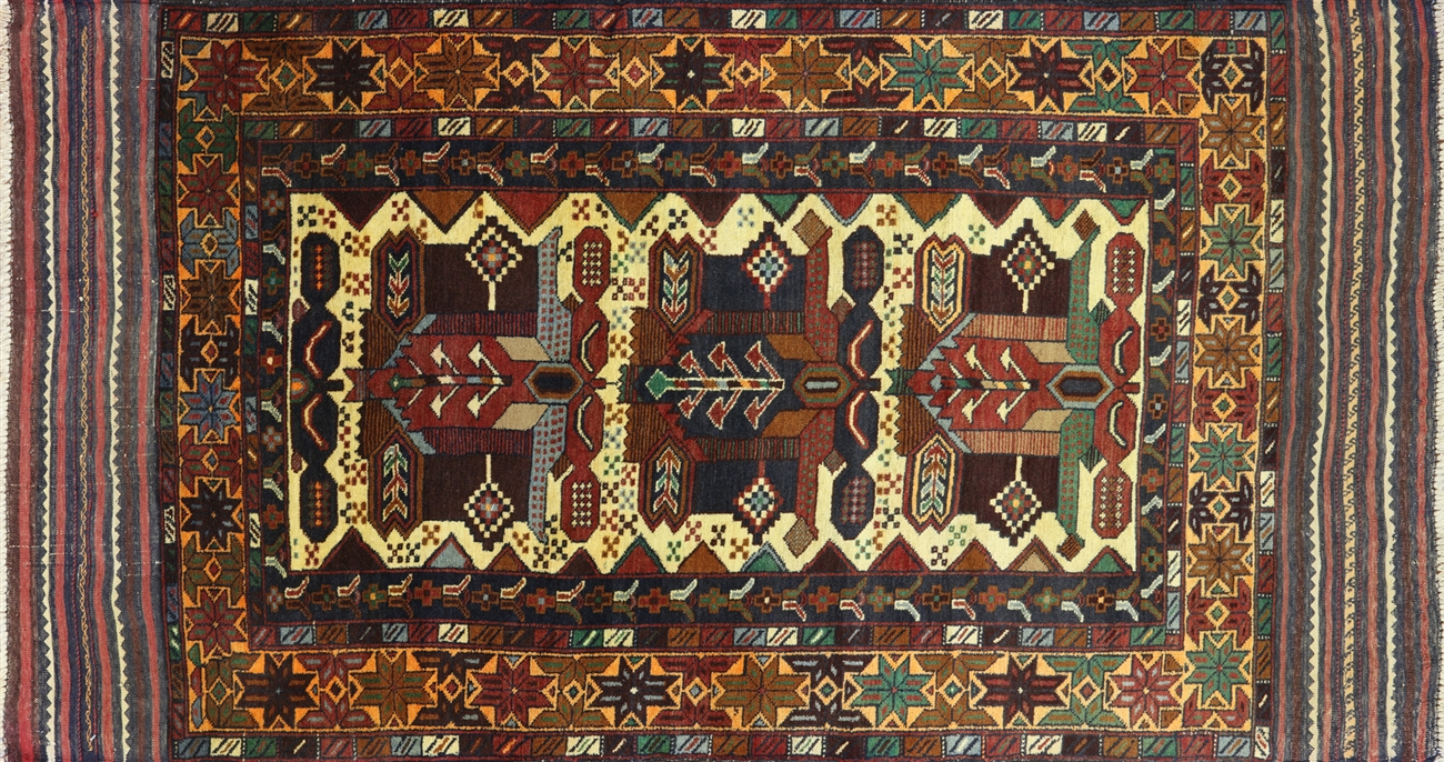 oriental persian baluch rug 4 x 7 - p2936