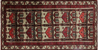 Persian Baluch Hand Knotted Pictorial Area Rug