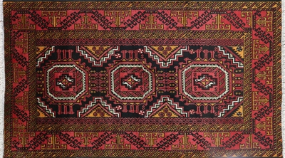 Persian Balouch Tribal Oriental Area Rug