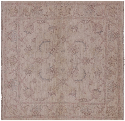 Square Oriental Persian Hand Knotted Wool Area Rug