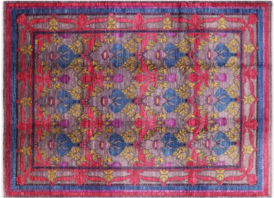 William Morris Design Oriental Handmade Modern Rug
