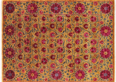 Persian Suzani Hand Knotted Oriental