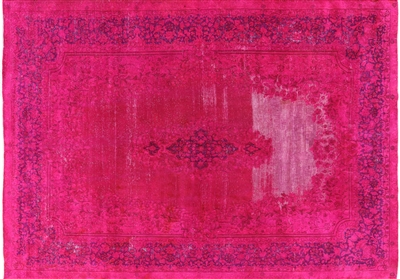 Oriental Hand Knotted Persian Overdyed Rug