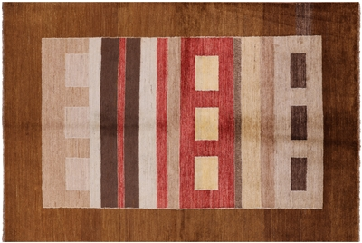 Oriental Hand Knotted Gabbeh Area Rug