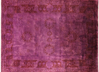 Hand Knotted Persian Overdyed Full Pile Rug