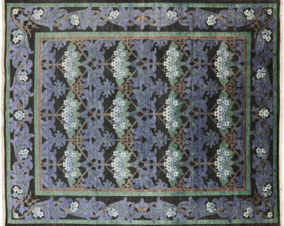 William Morris Design Hand Knotted Oriental Area Rug