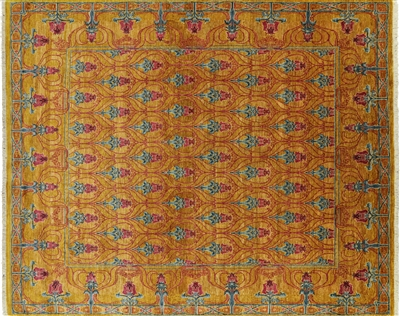 William Morris Oriental Hand Knotted Area Rug