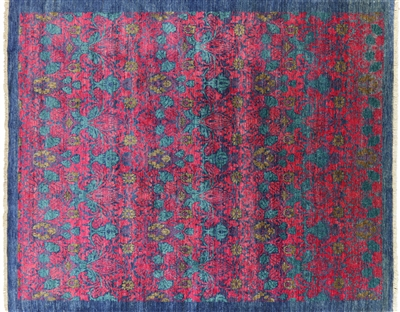 Hand-Knotted William Morris Oriental Area Rug