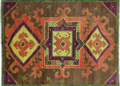 Hand Knotted Modern Wool Rug