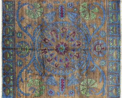 Moroccan Hand Knotted Wool Area Rug