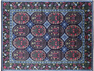 Oriental William Morris Handmade Wool Rug