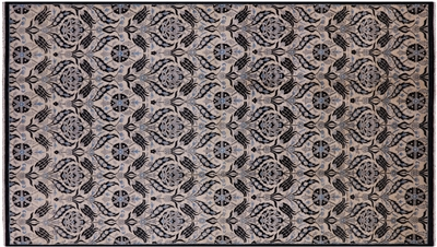 Oriental Suzani William Morris Design Hand-Knotted Wool Rug