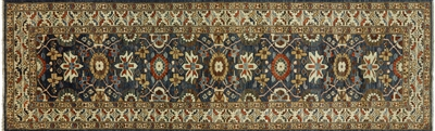 Fine Serapi Hand Knotted Runner Oriental Rug