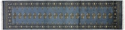 Oriental Silky Bokhara Hand Knotted Runner Rug