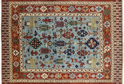 Hand Knotted Fine Serapi Oriental Rug