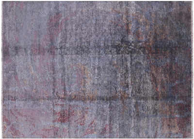 Persian Hand Knotted Wool & Silk Contemporary Rug