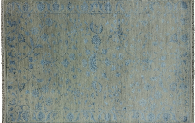 Oriental Hand Knotted Wool & Silk Area Rug