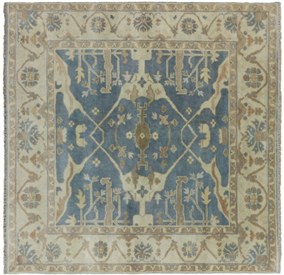 Square Oushak Hand Knotted Oriental Area Rug