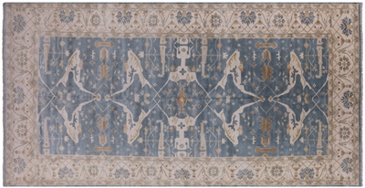 Oriental Hand Knotted Wool Oushak Rug
