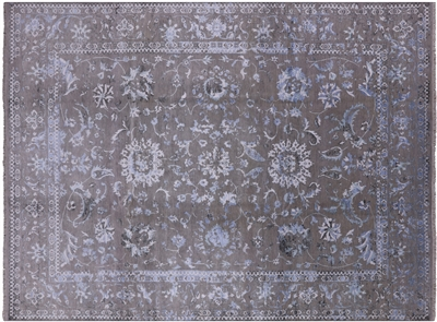Persian Hand-Knotted Wool & Silk Floral Oriental Area Rug