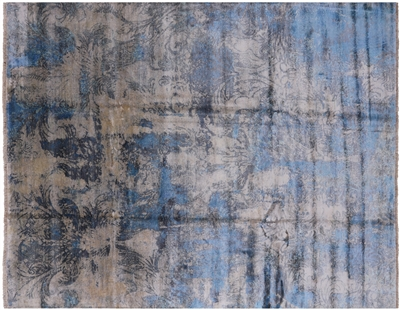Modern Pure Silk Hand Knotted Area Rug