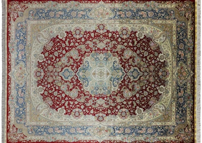 Hand Knotted Silk High End Persian Area Rug