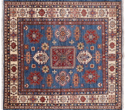 Square Super Kazak Hand Knotted Wool Area Rug
