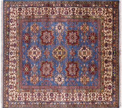 Square Super Kazak Hand Knotted Oriental Area Rug