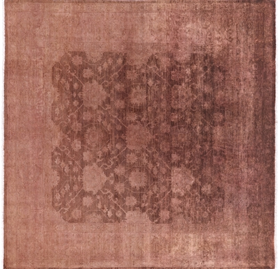 Square Full Pile Wool Overdyed Hand Knotted Area Rug
