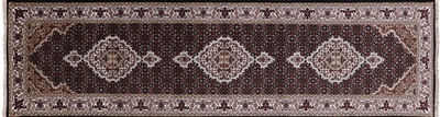 Runner Persian Tabriz Wool & Silk Rug