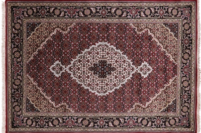 Wool & Silk Persian Tabriz Handmade Area Rug